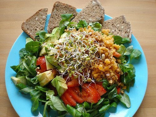 3 whole wheat and salad