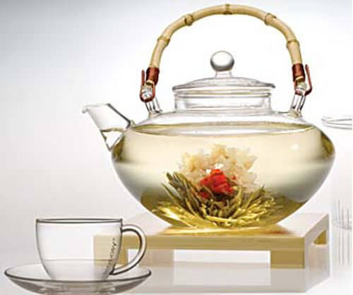 A cup of white tea.