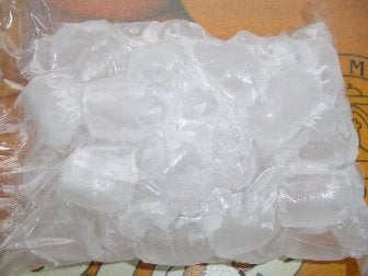 Pack of ice cubes