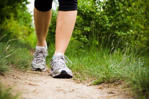 Reduce the risk of fluid retention in the legs by walking.