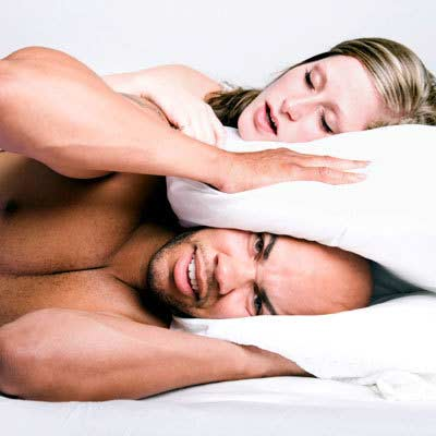 Woman can also engage in annoying snoring.