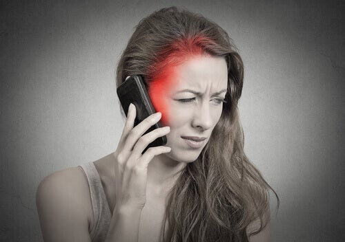Cell phone radiation may cause headaches.