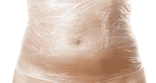 Plastic Body Wrap for Weight Loss and Detoxification