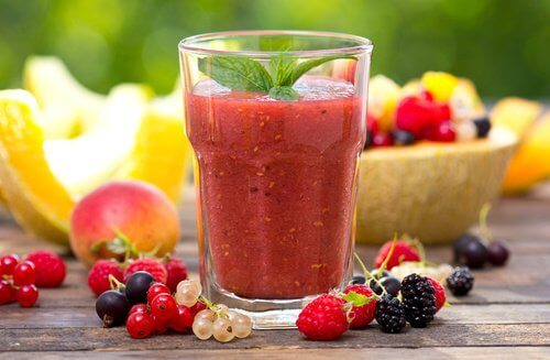 A red passion smoothie.