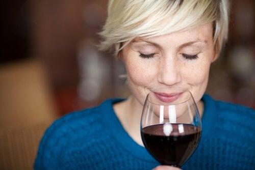 woman testing wine