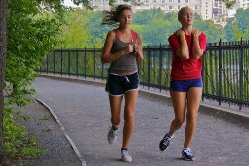 jogging pains
