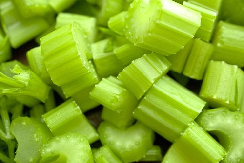 Pieces of celery