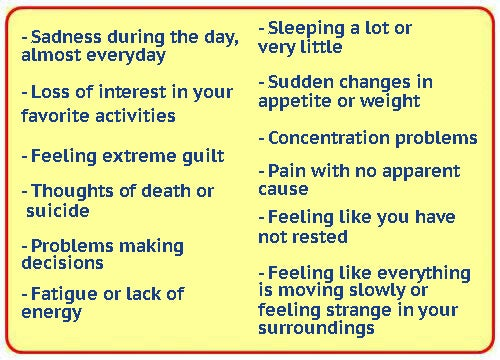 10 Warning Signs of Depression