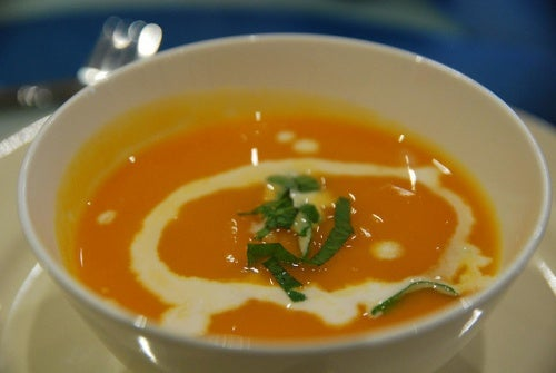 Pumpkin cream soup reduce cravings for sweets