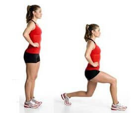 4 lunges
