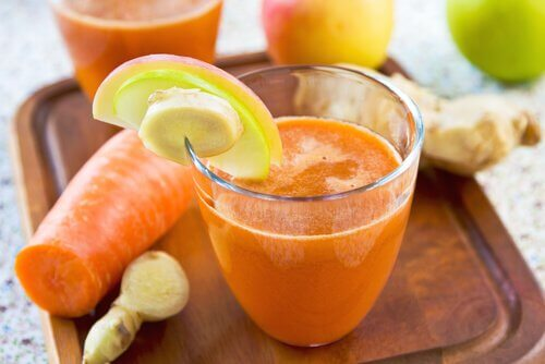 6 carrot ginger juice