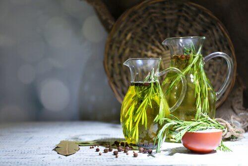 Jars of oregano oil