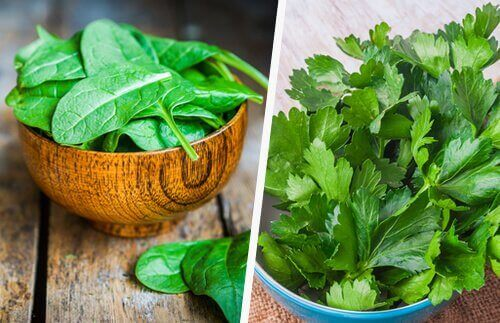 Spinach and parsley greens to help heal your liver