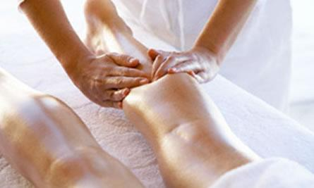 leg massage with essential oils