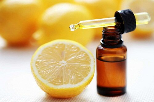 Lemon essential oils for spider veins