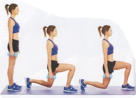 You can improve the appearance of your thighs with lunges.