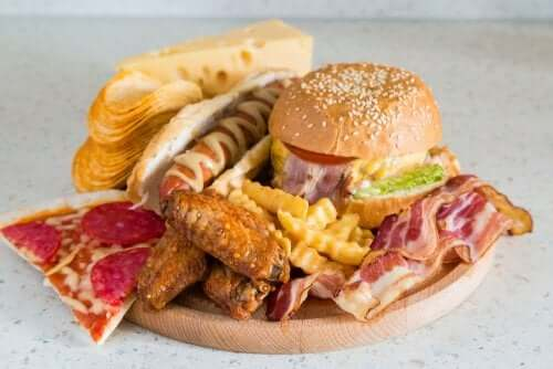 A picture of junk food.