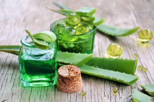 Aloe gel to fight wrinkles