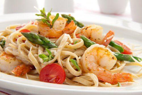 3 pasta and fish