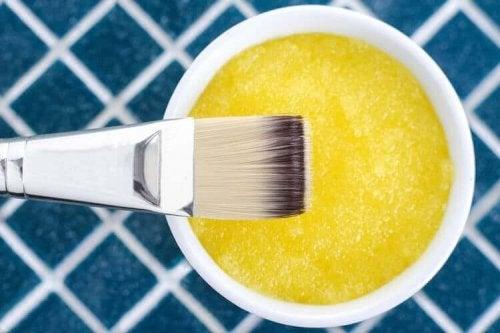A lemon and sugar mask.