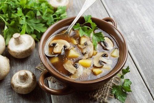 6 mushroom soup