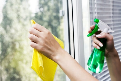 Cleaning your house can be easy with a spray bottle.