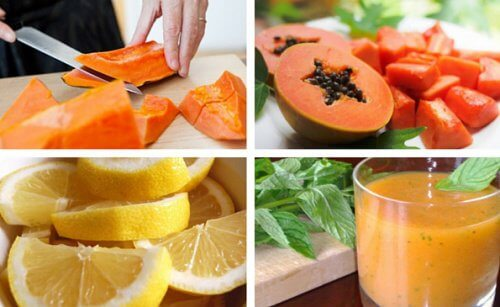 Lemon and Papaya Smoothie to Detox Your Stomach