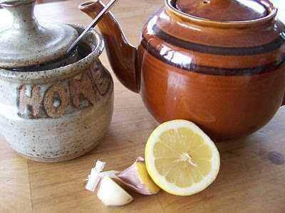 garlic and lemon tea