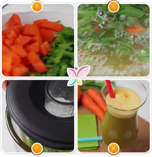 Parsley, Carrot and Orange Juice for Weight Loss