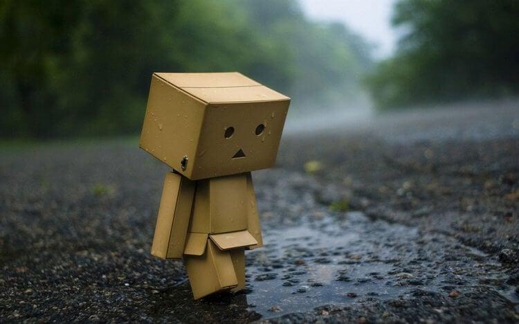 A depressed box-man.