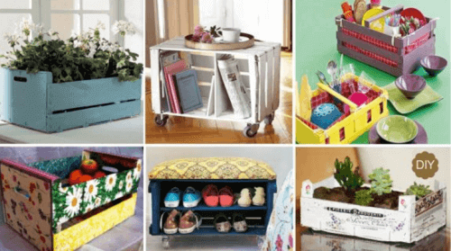 20 Great Ways to Reuse Wooden Crates at Home