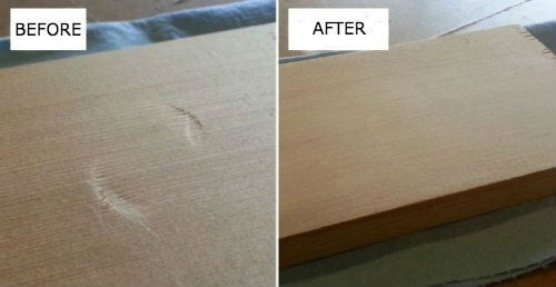 An Effective Trick to Quickly Remove Dents in Wood