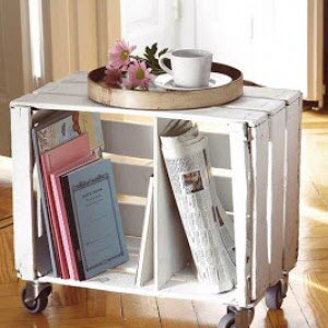 A recycled crate.