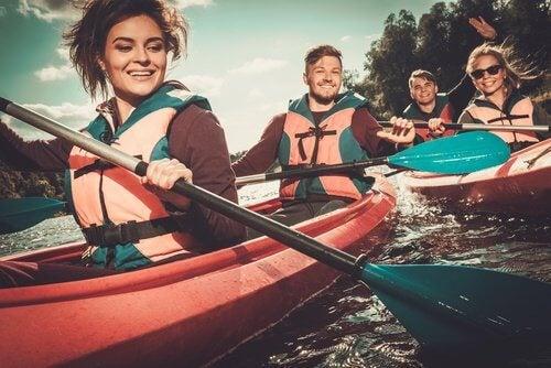 3 kayaking
