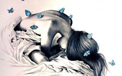 5 woman butterflies