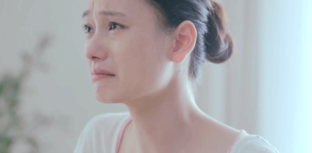 Chinese woman crying