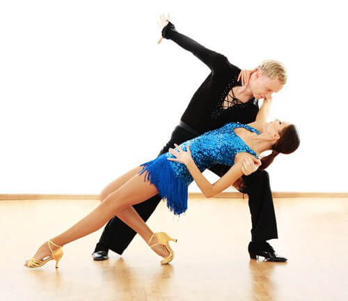 Salsa dance to shape legs, waist, and glutes