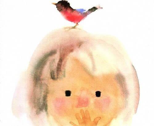 child-with-bird