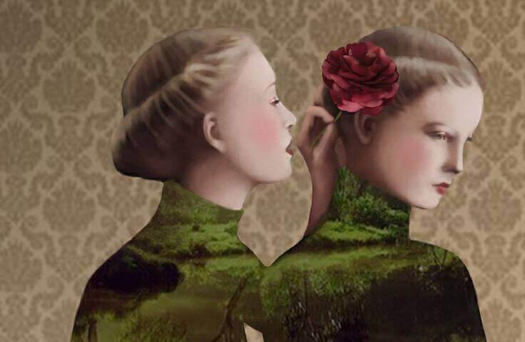 nainen kukka nainen