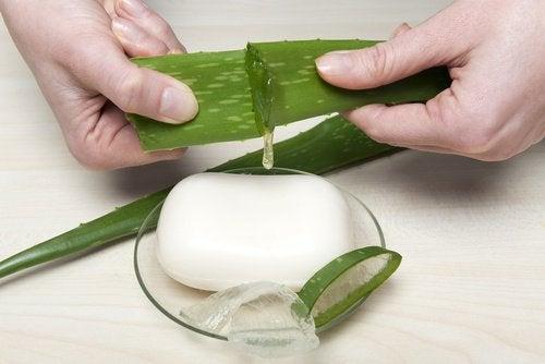 Homemade aloe soap