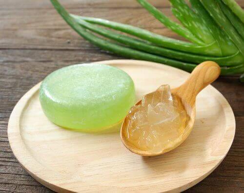 Homemade aloe vera soap