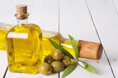 Jar of olive oil