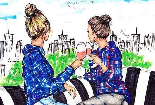 Sisaret juovat viiniä