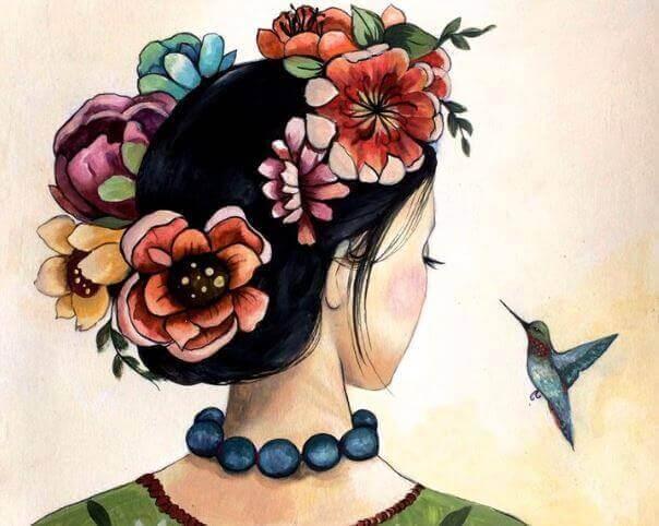 woman-hummingbird