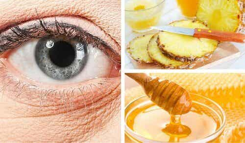 Natural Pineapple Mask for Under Eye Wrinkles