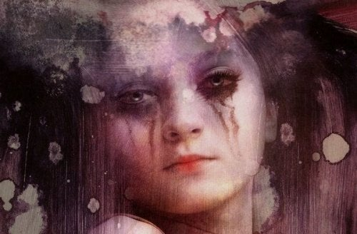 Tyttö ja itkeminen