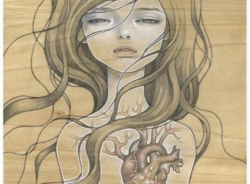 tytön sydän