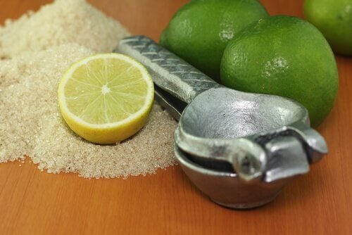 lime and sugar