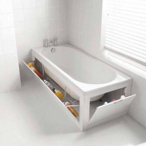 Baththub storage spaces