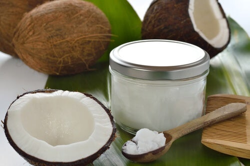 Coconut oil for fine hair.